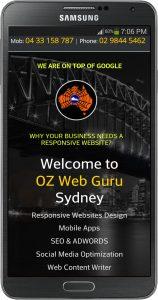 ozwebguru mobile responsive